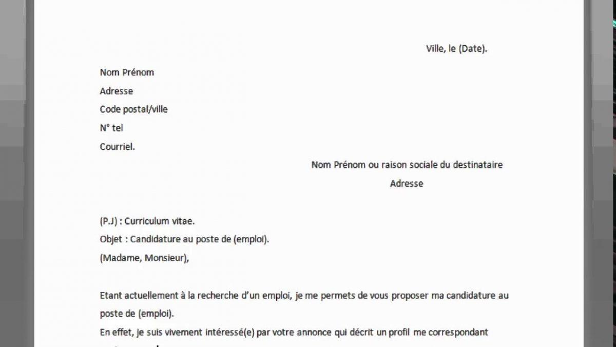 Comment ecrire une lettre en francais ?